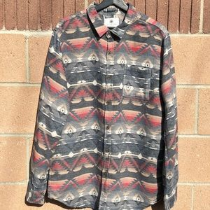On The Byas Men's Long Sleeve Button-Up